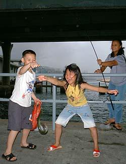 Fishing In Hong Kong China Kowloon Hong Kong Island Lantau Island