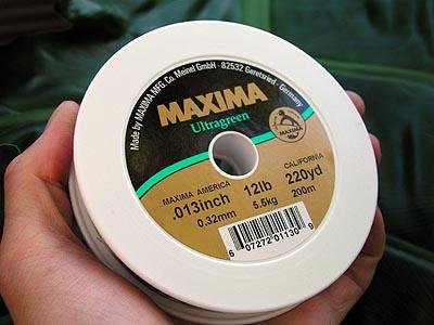 Monofilament fishing lines review maxima ultragreen for Maxima fishing line