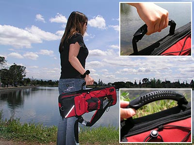 Rhino rod and reel tackle tote review storage fishing for Fishing rod tote