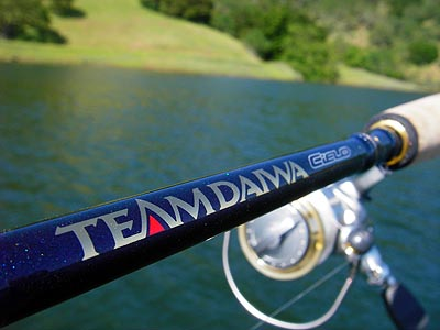 fishing rod review - daiwa td cielo titanium drop shot rod, Reel Combo