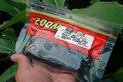 fishing lure reviews - zoom brush hog, Soft Baits