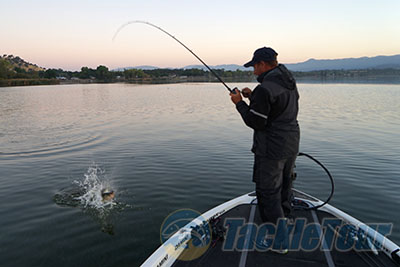 Fishing with pro angler bryan thrift on clear lake to test for Lake bryan fishing