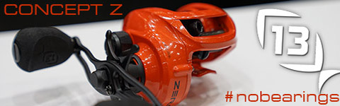 Icast 2017 coverage 13 fishing concept z baitcaster for Concept z 13 fishing