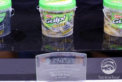 ICAST 2007 Berkley new 2008 baits and lures Powerbait gulp alive