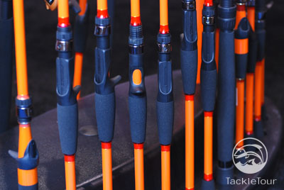 E21 fishing rods and jacket 2008 icast for Carrot stick fishing rod