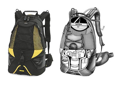 Lowepro Dryzone Rover backpack fishing Nikon D200 Canon 30D lenses ...